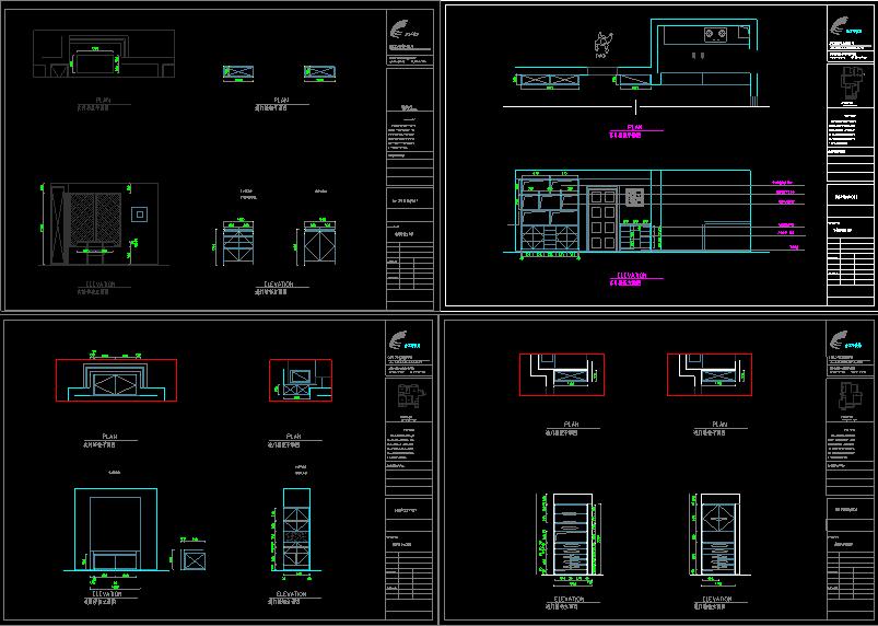 各种单个柜体精品CAD图块大合集丨衣柜+橱柜+鞋柜+书柜丨